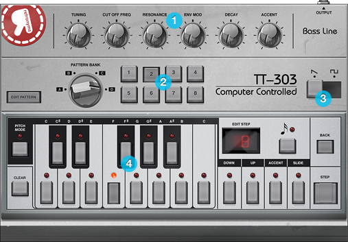 TT-303 Bassline Sequencer