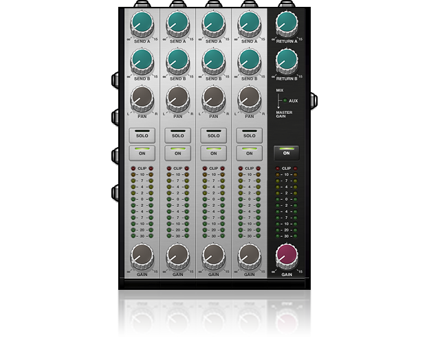 Goblin MX4-FX Four Channel Mixer with Sends